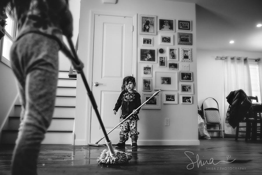 girl mopping floor long Island NY